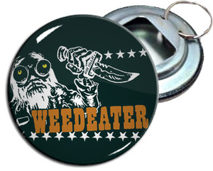 """Weedeater 2.25 """" Metal Bottle Opener Keychain"""