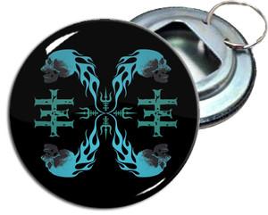"Psychic TV 2.25"" Metal Bottle Opener Keychain"
