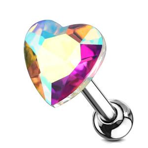2x 16g Heart Piercing