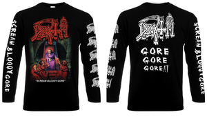 Death Scream Bloody Gore Long Sleeve T-Shirt