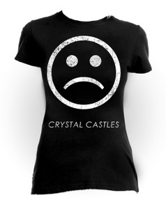 Crystal Castles Sad Face Girls T-Shirt