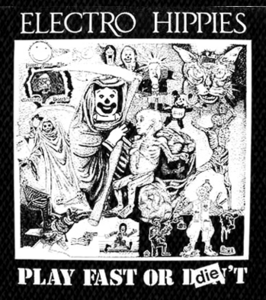 "Electro Hippies Play Fast 5x4"" Printed Patch"