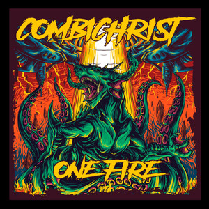 "Combichrist - One Fire 3x5"" Color Patch"