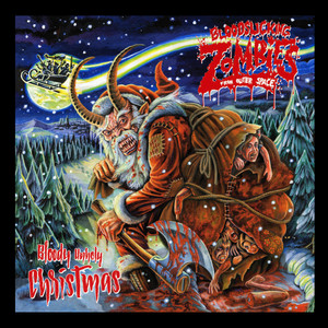 """Blood Slicking Zombies From Outer Space - Bloody Unholy Christmas 4x4"""" Color Patch"""