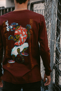 Red Gangster Panter Long Sleeve T-Shirt