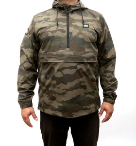 Huntress Premium Waterproof Camo Jacket with Kangaroo Pouch
