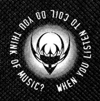 """Coil - When you Listen to Coil do you think of Music? 4x4"""" Printed Patch"""