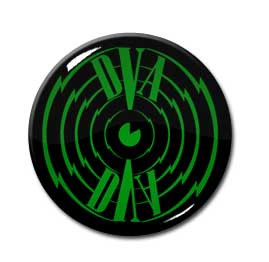 "Clock DVA - Green Logo 1.5"" Pin"
