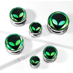 2x Holographic Alien Flesh Tunnel Plug Ear Expansions