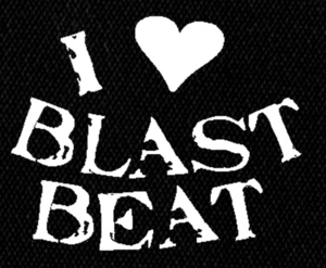 "I Love Blast Beat 6x5"" Printed Patch"