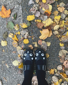 Black Cat Mary Jane Shoes