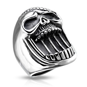 Laughing Skull Stainless Steel Casting Ring