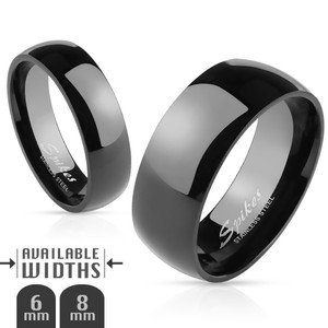 Glossy Mirror Polished Dome Band Stainless Steel  Ring