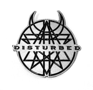Disturbed - Circular Logo - Metal Badge