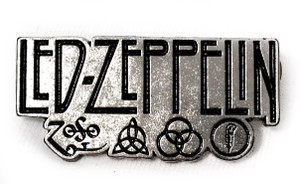 Led Zeppelin - Symbols Logo - Metal Badge