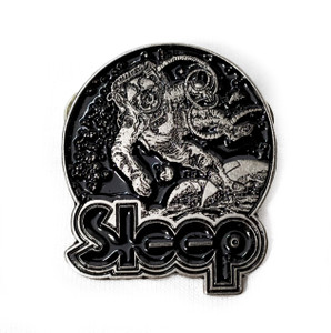 Sleep - Astronaut Logo - Metal Badge