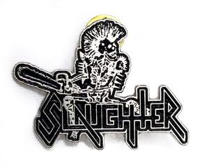 Slaughter - Logo - Metal Badge