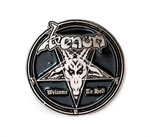 Venom - Welcome To Hell - Metal Badge Pin