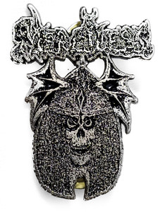 Merciless - Skull Metal Badge