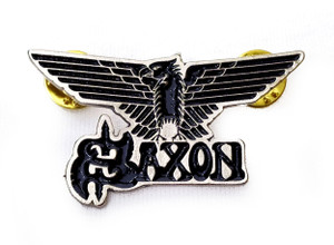 Saxon - Eagle Logo Metal Badge