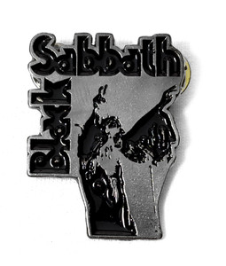 Black Sabbath - Vol 4 Chrome Logo Metal Badge Pin