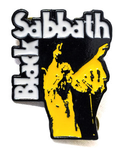 Black Sabbath - Vol 4 Yellow Logo Metal Badge