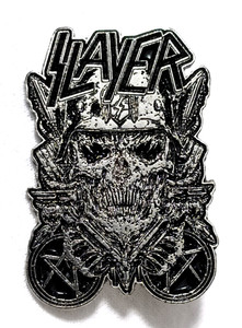 Slayer - Skull Front Metal Badge Pin