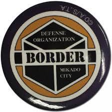 "World Trigger - border 1.5"" button"