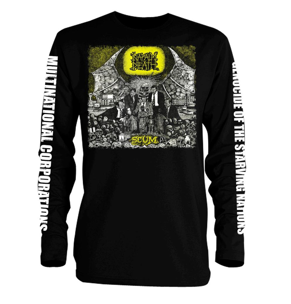 Official T Shirt NAPALM DEATH Black Death Metal NAZI Punks All Sizes
