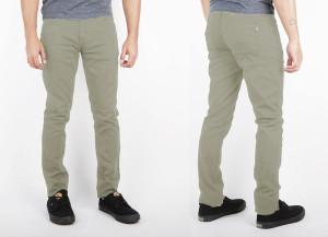 Light Green Denim Skinny Pants