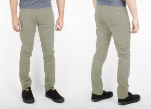 Light Green Denim Skinny Pants