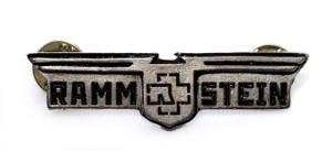 Rammstein - Coat of Arms Engraved Logo Metal Badge