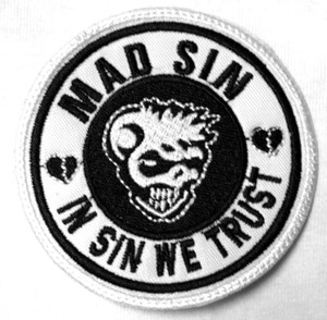 "Mad Sin - In Sin We Trust 3x3"" Embroidered Patch"