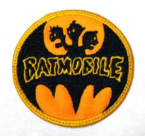"Batmobile Yellow Logo 3X3"" Embroidered Patch"