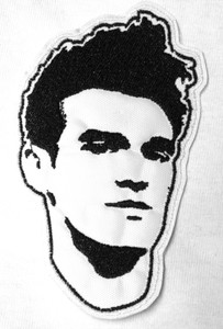 """Morrissey - Face 3X4"""" Embroidered Patch"""