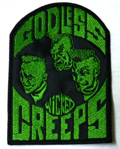 "Godless Wicked Creeps 3X4"" Embroidered Patch"
