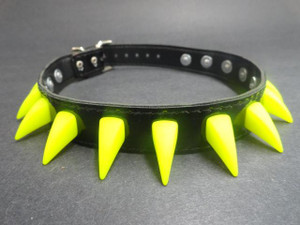 Black PVC Choker with Neon Spikes
