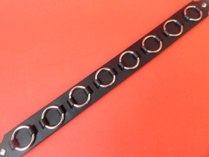Black Leather Choker with Rings