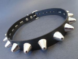 Black Leather Studded Choker