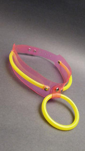 Pink Choker with Neon Yellow Tubes