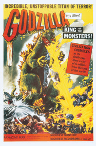 "Godzilla King of Monsters 24x36"" Yellow Poster"