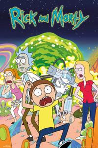 "Rick and Morty - Group Portal 24x36"" Poster"
