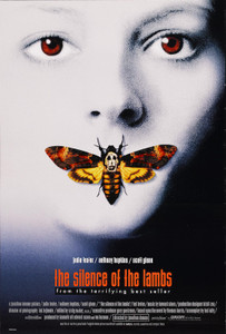 """Silence of the Lambs 24x36"""" Poster"""