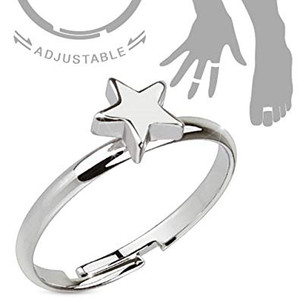 Petite Star Adjustable Ring