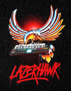 "Lazerhawk - Synth Wings 4x4"" Color Patch"