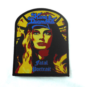 "King Diamond - Fatal Portrait 4.5x3.5"" WOVEN Patch"