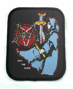 "Slayer - Spill The Blood 4x3"" WOVEN Patch"