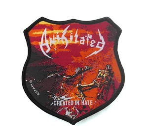 "Anihilated - Created In Hate 3.5x3"" WOVEN Patch"