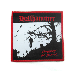 "Hellhammer - Triumph Of Death 3.5x3.5"" WOVEN Patch"