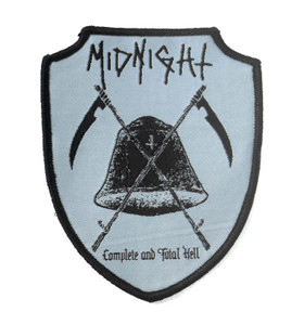 "Midnight - Complete And Total Hell 4x3"" WOVEN Patch"